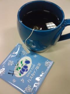 きょうのおやつ ハスカップ紅茶